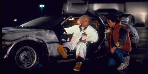 Back To The Future Doc and Marty in the Delorean