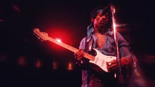 Jimi Hendrix performing at Madison Square Garden, New York City, 18th May 1969
