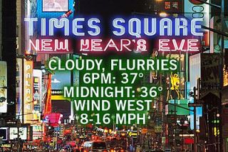 New Year's Eve forecast 2012