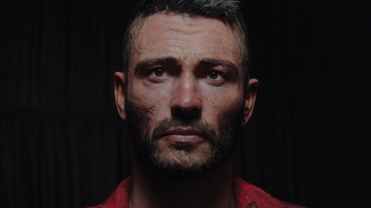 Realistic 3D portrait of a man by István Vastag
