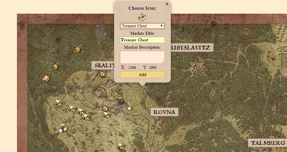 There's an interactive Kingdom Come: Deliverance map you can use in