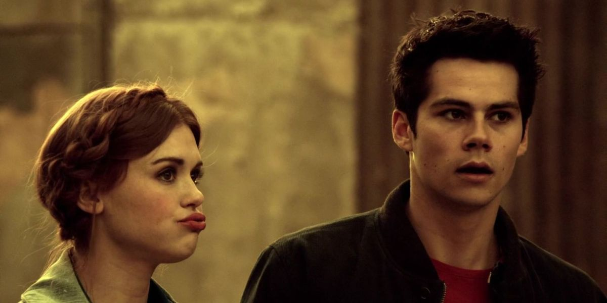 Dylan O'Brien and Holland Roden on Teen Wolf.