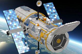 Hubble Space Telescope LEGO Model