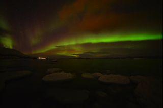 Christmas auroras shine over Abisko National Park in Sweden on Christmas 2013.