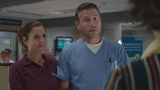 Rosa and David were shocked when Xiomara turned up unexpectedly in the ED in Casualty