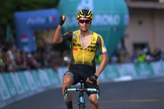 Jumbo-Visma's Primoz Roglic wins the 2019 Giro dell'Emilia, but has yet to race in 2020