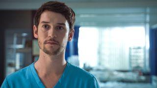 Nic Jackman plays Cameron Dunn in Holby City