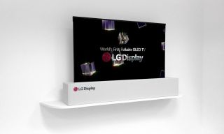 LG 65-inch UHD Rollable OLED Display at CES
