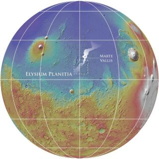 Marte Vallis Mars Map