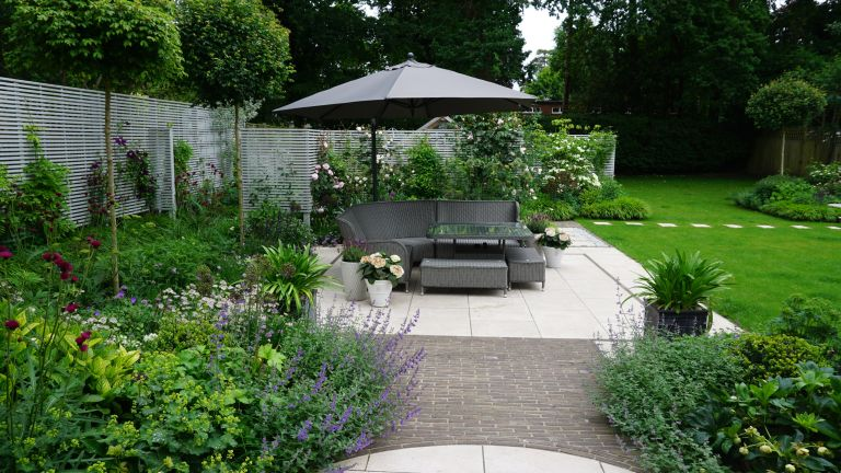 how much does a garden designer cost: patio and seating Helen Elks-Smith