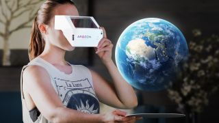 """The Aryzon """"cardboard for augmented reality"""" will work with all smartphones, iOS and Android."""