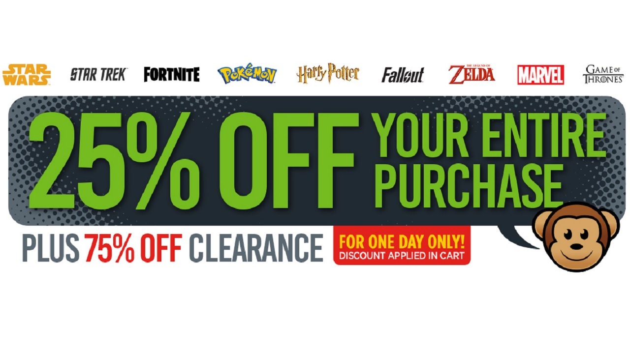 Get 25% off everything in the ThinkGeek sale and 75% on