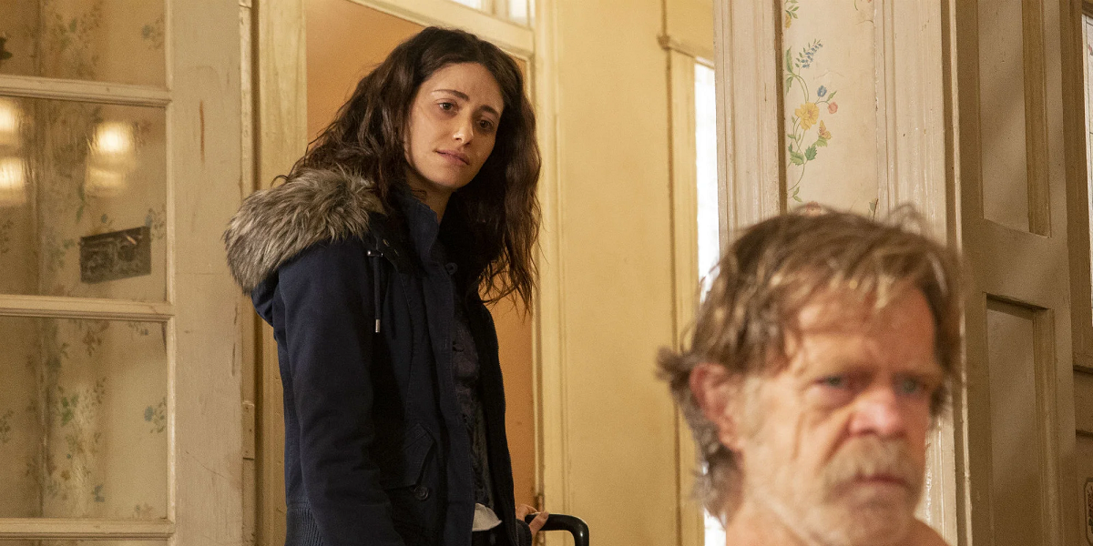 Emmy Rossum and William H. Macey in Shameless