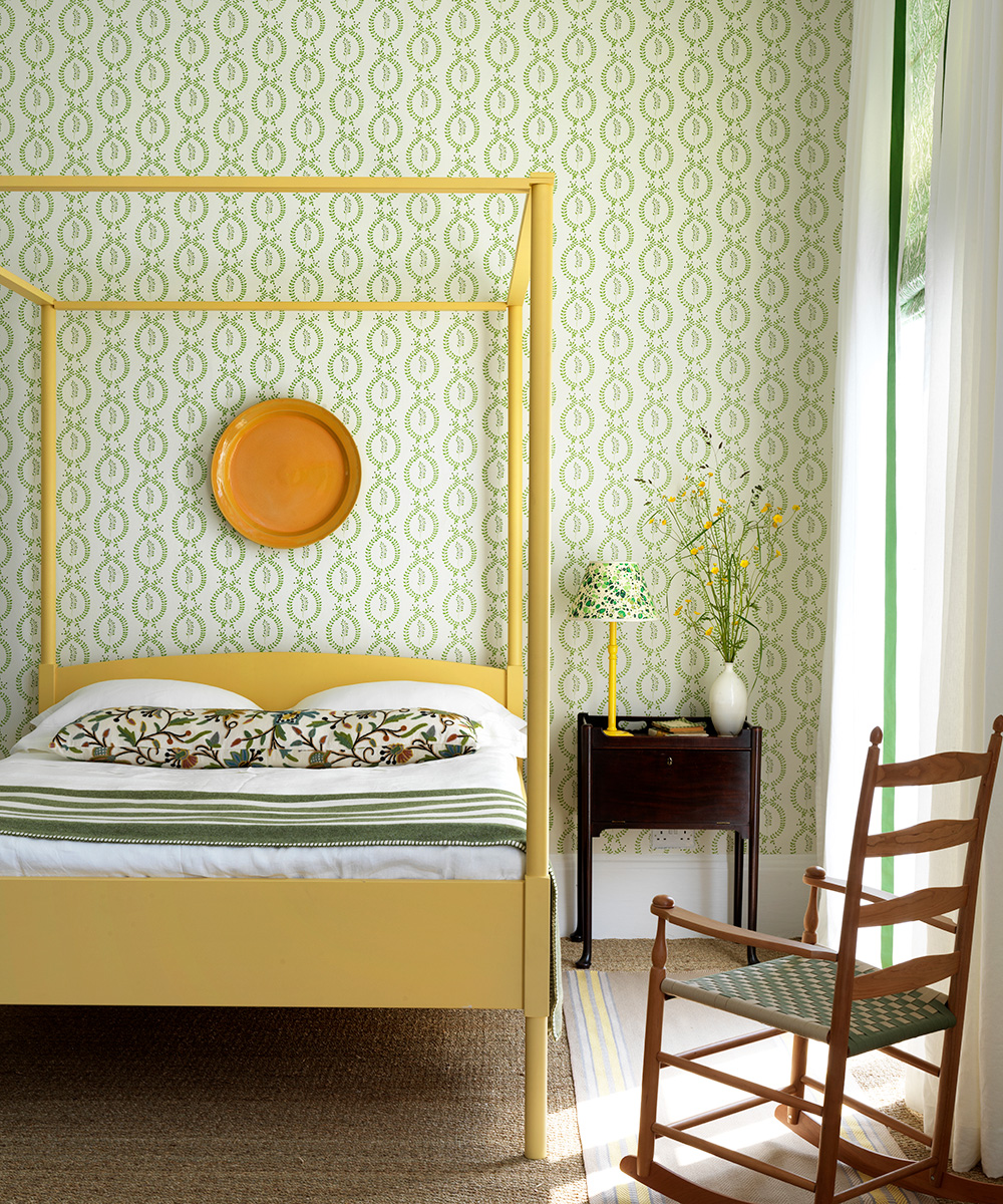Bright bedroom with Shaker-style furniture | Homes & Gardens