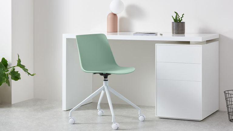 MADE Essentials Newel Office Chair in white home office