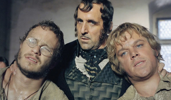 The Brothers Grimm Heath Ledger Peter Stormare Matt Damon brothers in trouble