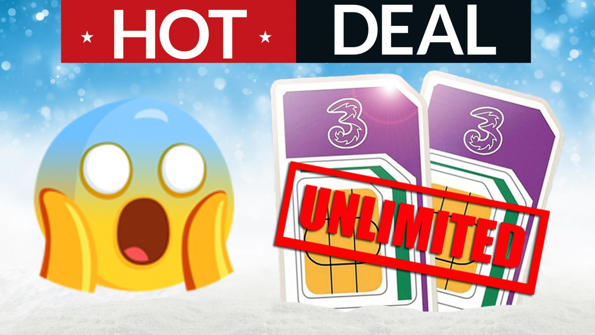 Unlimited EVERYTHING Three SIM only deal is now ONLY £10 per month!