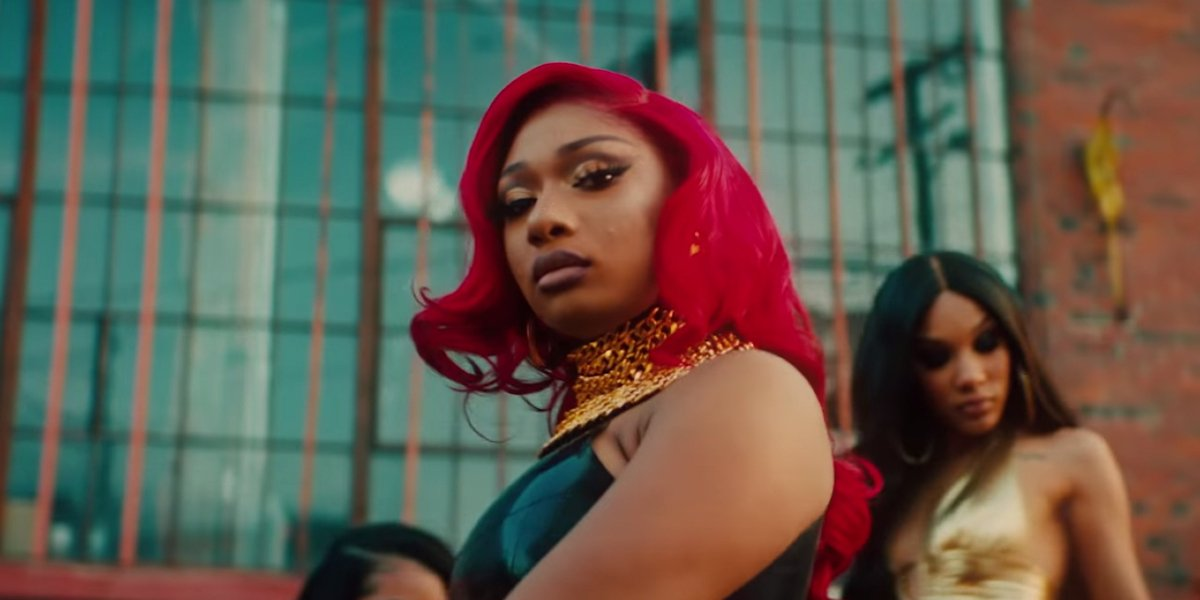 Megan Thee Stallion in the Realer music video