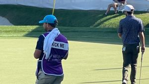 Why A PGA Tour Caddie Has 'Kick Me' On His BibWhy A PGA Tour Caddie Has 'Kick Me' On His Bib