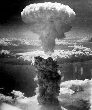 nagasaki, atomic bomb, mushroom cloud