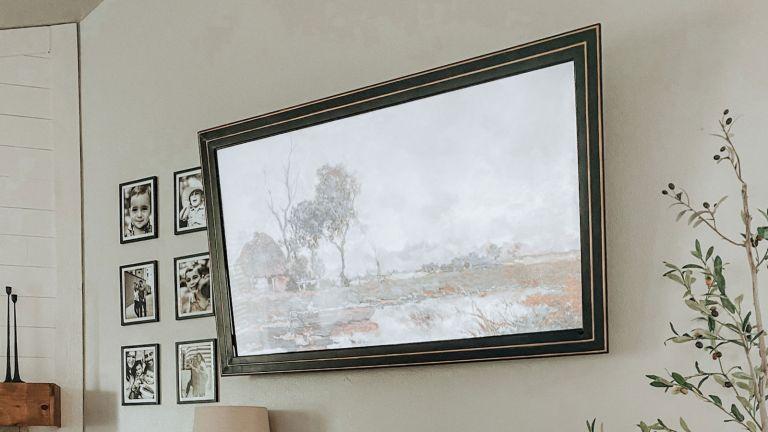 DIY frame tv on the wall