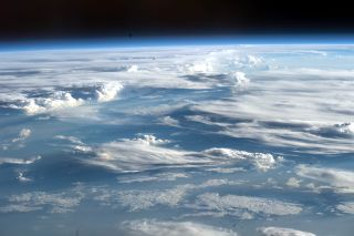 Clouds as seen from the International Space Station over Africa in 2017.