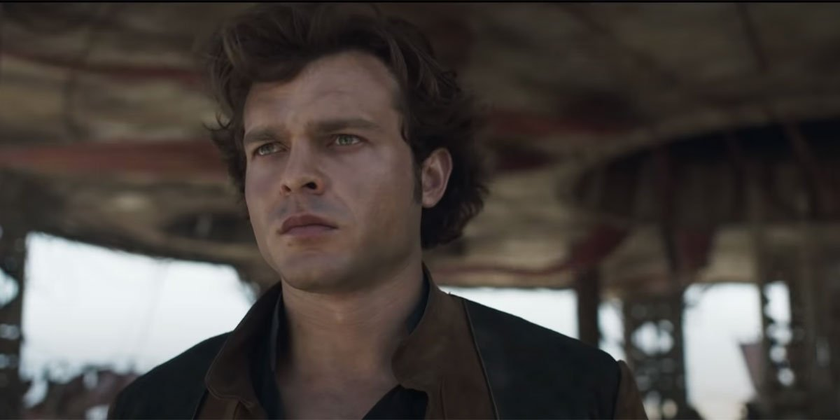 Han Solo looking intense in the trailer for Solo