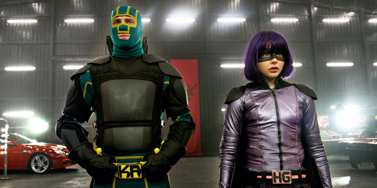 Aaron-Taylor Johnson and Chloe Grace Moretz in Kick-Ass