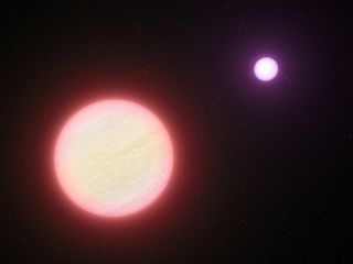 This artist's impression shows the pair of brown dwarfs named CFBDSIR 1458+10. Observations with ESO's Very Large Telescope and two other telescopes have shown that this pair is the coolest pair of brown dwarfs found so far. The two components are both ab
