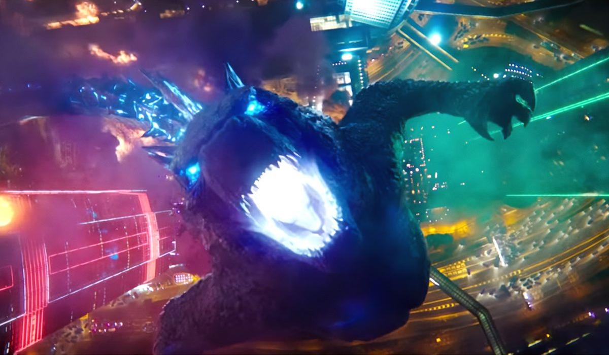 Godzilla charging up his atomic blast in Godzilla vs. Kong.