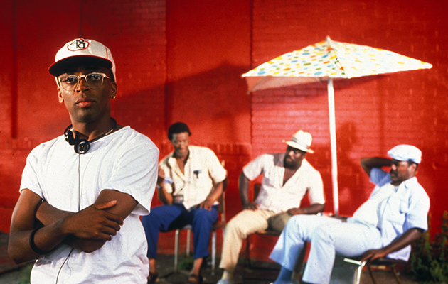 Black Hollywood picture shows Spike Lee in Do the Right Thing