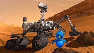 Curiosity and Twitter's Bird Mascot