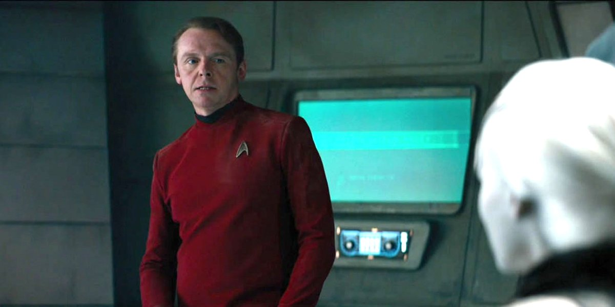 Star Trek Simon Pegg in uniform