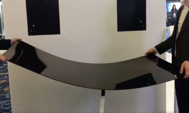Video Lg S Quot Wallpaper Quot Oled Tv Is Really Very Flexible