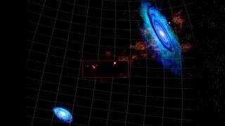 Hydrogen Clouds M31 M33