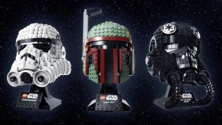 Star Wars helmets Lego sets.