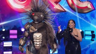 Porcupine and co-host Niecy Nash in the season five premiere of Fox's 'The Masked Singer'