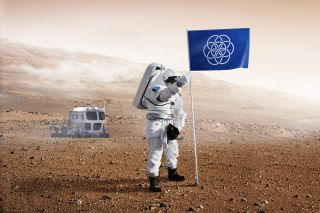'International Flag of Planet Earth' Planted on Mars