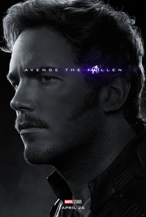 Star-Lord in official Avengers: endgame poster
