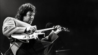 A shot of Gary Moore playing live