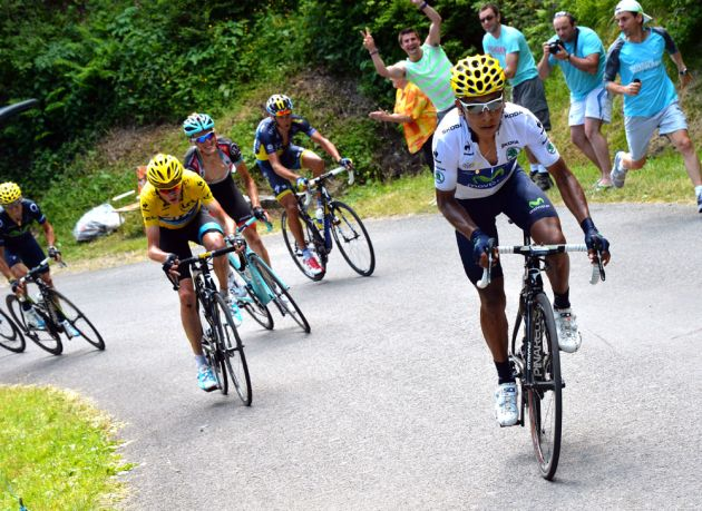 Nairo Quintana attacks, Tour de France 2013, stage nine