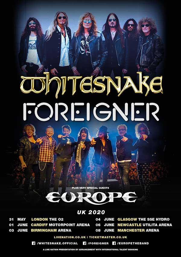 Whitesnake, Foreigner and Europe to tour together in 2020 | Louder