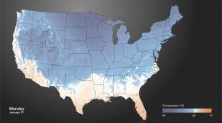 Invasion of Arctic air into US