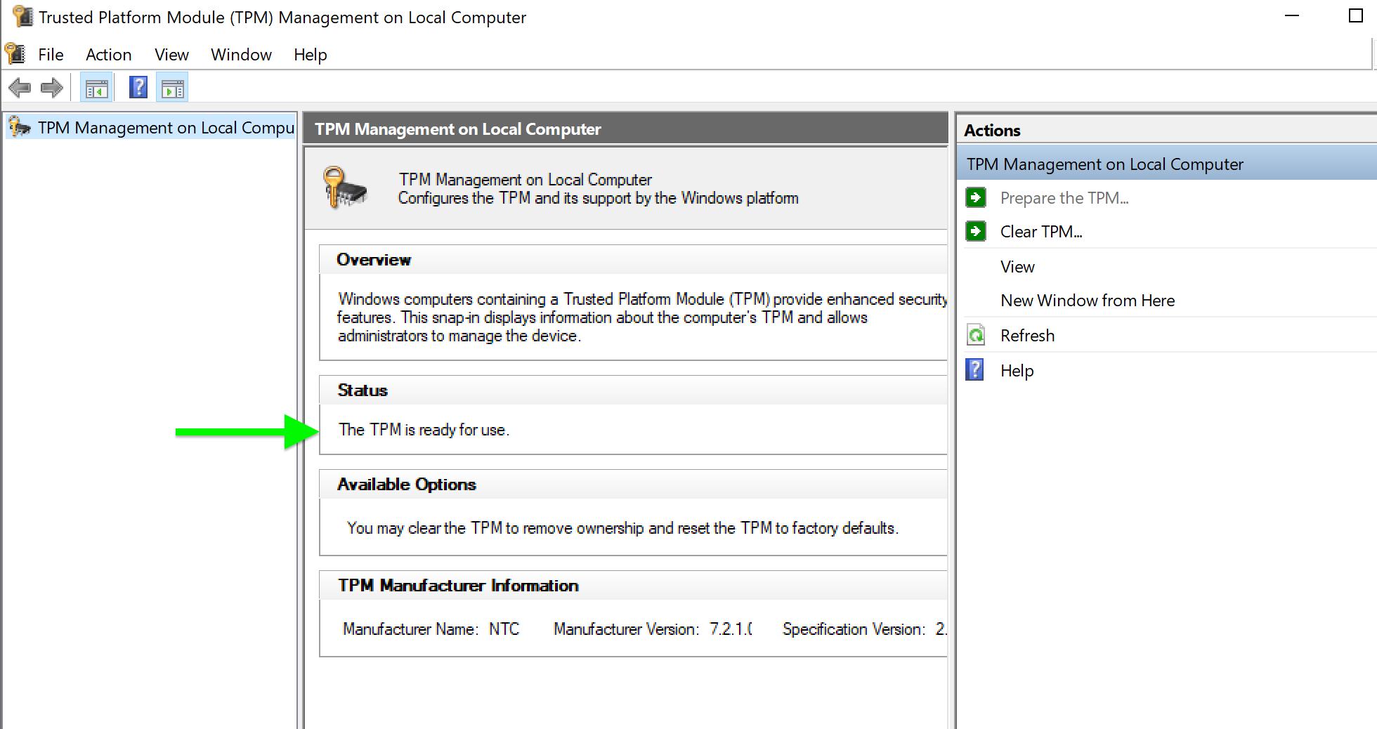 Cara memeriksa Windows 11 dpm - Konfirmasi
