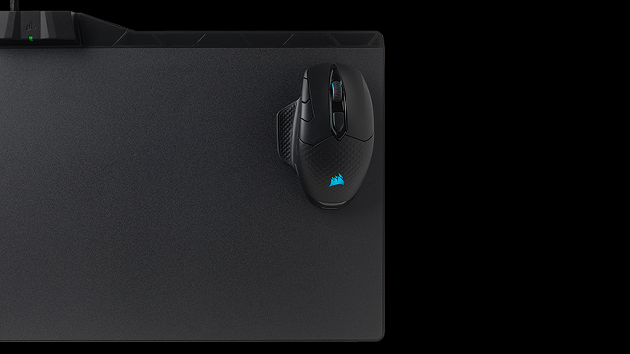 Get 50% off this handy wireless charging mousepad, the Corsair MM1000 Qi   PC Gamer