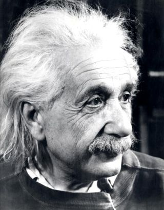 Albert Einstein in Princeton, USA.