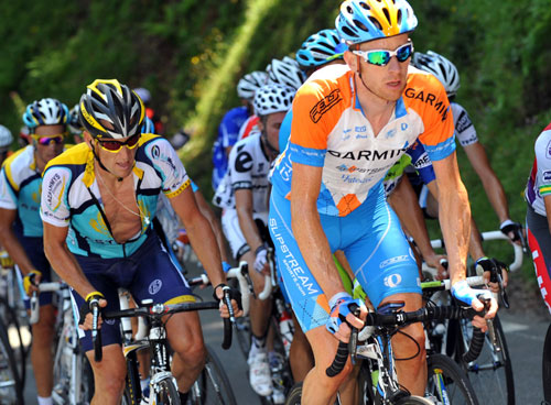 Bradley Wiggins, Lance Armstrong, Tour de France 2009 stage 9
