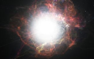 Dust Forming Around a Supernova
