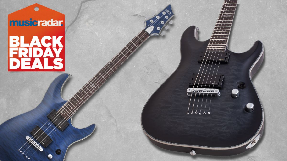 This metal-friendly Schecter C-1 Platinum is $150 off at Guitar Center right now