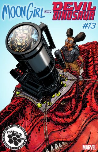 Moon Girl and Devil Dinosaur comic book cover